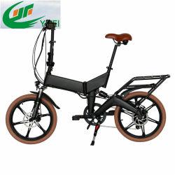 Ce de la rueda de magnesio plegable bicicleta eléctrica con batería oculto y suspensión
