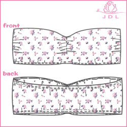 Bandeau comodo della signora Women Girl Bra Cotton senza bretelle