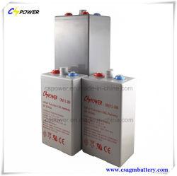 Cspower Opzv2V1500ah трубчатые Гелиевый аккумулятор максимальное время автономной работы для систем солнечной энергии