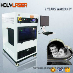 Индивидуальные подарки 3D-печати стеклянная внутренняя лазерной гравировкой Crystal машины