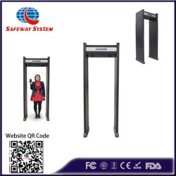 Les produits de sécurité Outdoor marcher à travers le détecteur de métal pour trouver le cuivre (à l'-300B)