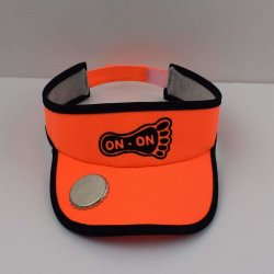 BSCI Vérification tissu Dry-Fit Unisex Orange Sports Golf Décapsuleur Visor avec bandeau antisudation