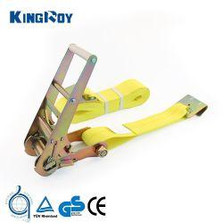 Kingroy 3inch 16200lbs 27FT binden Hochleistungsaluminiumgriff-Schaltklinke unten mit flachem Haken
