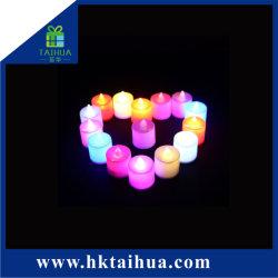 Горячая Продажа красивых экологически безопасные электрические Flameless Tealight свечи свадебное знакомства светодиодная свеча