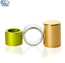 Kundenspezifisches Firmenzeichen-Metallschraubverschluss- Gold metallisierte Flaschen-Aluminiumplastikschutzkappen