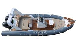7,6M/25FT Barco Rígida Iate Inflável Barco de luxo costela de iates de fibra de Barco de Pesca barco barco inflável Barco a Motor Lancha com certificação CE