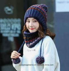 Chica de moda Crochet Multi Earflap Fleece Hat