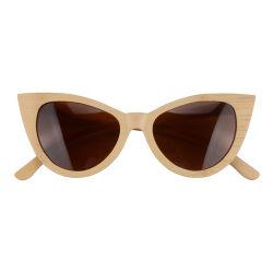 Metal de último diseño&Bambú gafas de sol para mujer