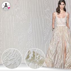 유럽 여자 복장 결혼식 도매를 위한 주문 자수 직물 레이스