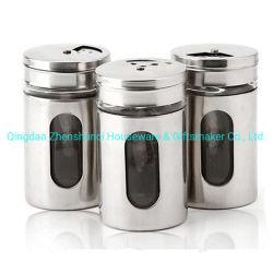 ガラス記憶のガラス塩コショウ入れまたはハーブおよびスパイスの容器のシェーカーの乾燥びんまたはガラスのスパイスの容器のびんの瓶