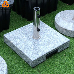 柄の石ベースが付いている正方形のステンレス鋼の傘ベース立場