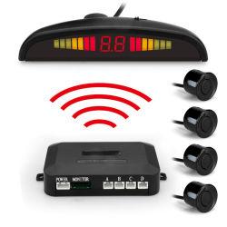 Wireless Auto Parktronic LED Parkplatz Sensor System Reverse Backup Überwachung von Radarwarner mit 4 Sensoren akustischer Signalgeber