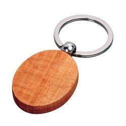 Элегантный круглые деревянные цепочки ключей для Souvernir (Ele-K069)