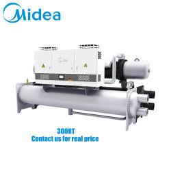 Midea инвертор винт с водяным охлаждением охладитель 380V-3фазы-50Гц Scwe300hv 1061KW параллельно с двумя конструкция компрессора охладитель винт