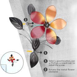 Металлической стенки искусства с цветком для интерьера декор на стене