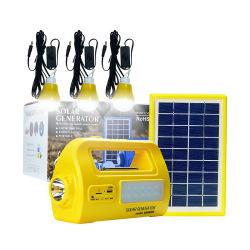 De draagbare Zonne Zonne Lichte ZonneLamp van de Generator met de Output van gelijkstroom en Haven USB voor Huis en het Kamperen