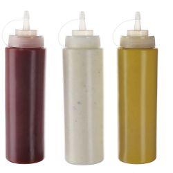 Comercio al por mayor de Pet claro Squeeze Miel Ensalada de salsa de soja la salsa de tomate botella de plástico