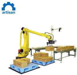 Het palletiseren van Robots in het Karton die van de Industrie Automatische Robotachtige Manipulator Palletizer stapelen