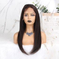 Kinky en línea recta 13X6 delantera de encaje Cabello pelucas para las mujeres 130 grueso densidad Yaki Remy brasileño Bob corta peluca Color natural