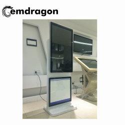 La rotation statif au sol de 43 pouces d'affichage de la publicité Bluetooth joueur avec certificat Full HD LED de signalisation numérique des photos de gros joueur tactile LCD Ad Player