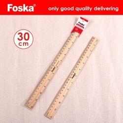 30X2.5cm regla recta de madera de madera natural