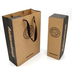 Impreso de Color personalizado de plegado de grado alimentario personalizado de venta directa de la artesanía de vino tinto de gama alta de cartón de papel de embalaje Caja de regalo