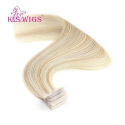 Estensione naturale di trama dei capelli umani del Virgin della pelle dell'unità di elaborazione