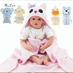 Cheap hermosa chica Pink Elephant 100% algodón de bambú baño bebé Toalla con capucha