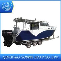 China Proveedor de aluminio de 30 pies Motor Offshore de yates de vela de la pesca deportiva