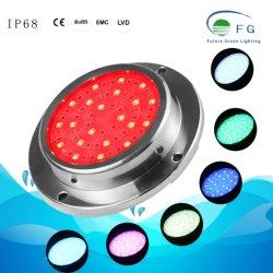 De aço inoxidável 316 12V Piscina RGB LED de luz da lâmpada subaquática