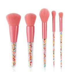 Meilleur Candy 5PCS portables de la brosse de maquillage Travel Foundation Eyeliner rougir de cils Kabuki Pinceau brosse cosmétique Set mignon par artiste Bestope s'appliquent