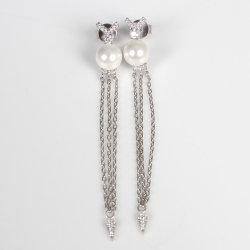 Jóias de 925 Sterling Silver Diamond Brinco pérola de seta pendão jóias de terceiros