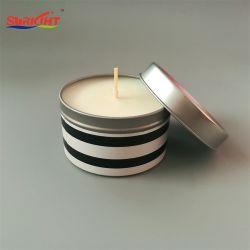Движении душистыми с современными цвет этикетки Тин свечи