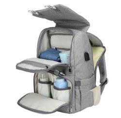 Fraldas para bebé saco com interface USB grande das fraldas para bebés alterando Bag Múmia Maternidade mochila de viagem para o MOM sacos de enfermagem