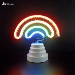 Tabela de Neon LED arco-íris Luz noturna para crianças