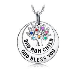 方法銀の宝石類生命吊り下げ部の宝石用原石色 Zircon の木 ウィメンズアクセサリーネックレス