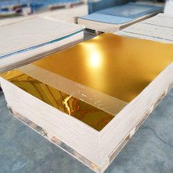 La alta calidad tamaño 4X8 brillo metálico rígido PVC hojas de plástico
