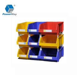 Caixa de ferramenta de depósito de plástico empilháveis Compartimentos de armazenamento