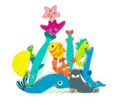 Деревянные игрушки балансировки морских существ для малышей, дошкольное обучение игры, соответствующая деятельность
