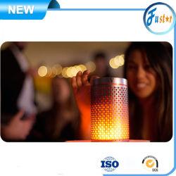 Hi Fi 사운드 품질 불꽃 LED 미니 휴대용 무선 Bluetooth MP3 USB 태블릿 스피커 덮개