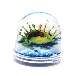 Logo personnalisé Snow Dome de souvenirs de bricolage de gros Homemade Picture frame Insert en plastique de la photo de l'eau pour les métiers de Globe