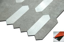 Nuove mattonelle di mosaico del picchetto di colore dell'argento di figura nella decorazione interna del materiale da costruzione della carta da parati