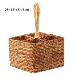 Плетеную мебель плетеная корзина столовой посудой для уборки сахарного тростника