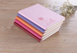Top Quality Promotion Goedkope Custom PU Leather Notebook, modieuze PU Leather Diary, Custom Leather Note Book