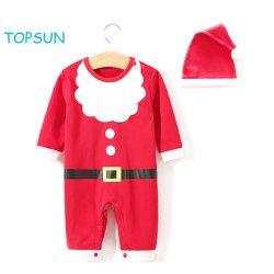 Мало для женщин и грудных детей Детский 1 ПК Outwear теплой одежды Рождество длинной втулки Pajama Romper
