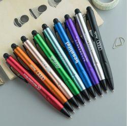 شعار الليزر قلم حبر على ضوء LED متعدد الوظائف / قلم لوح كروي قلم اللمس