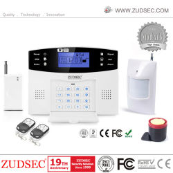 GSM + RTPC Voix 433MHz sans fil Smart Home de la sécurité du système d'alarme antivol antivol de la chambre