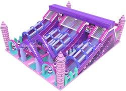 위락 공원을%s 분홍색 Funland 성곽 팽창식 활주 팽창식 장난감