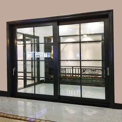 Feelingtop interior o exterior de aluminio con doble puerta deslizante de cristal templado