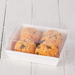 Установите флажок бумаги с прозрачной крышки пластиковые торт крем контейнер